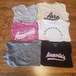 Aeropostale Bundle of 6 T-Shirts Short Sleeves